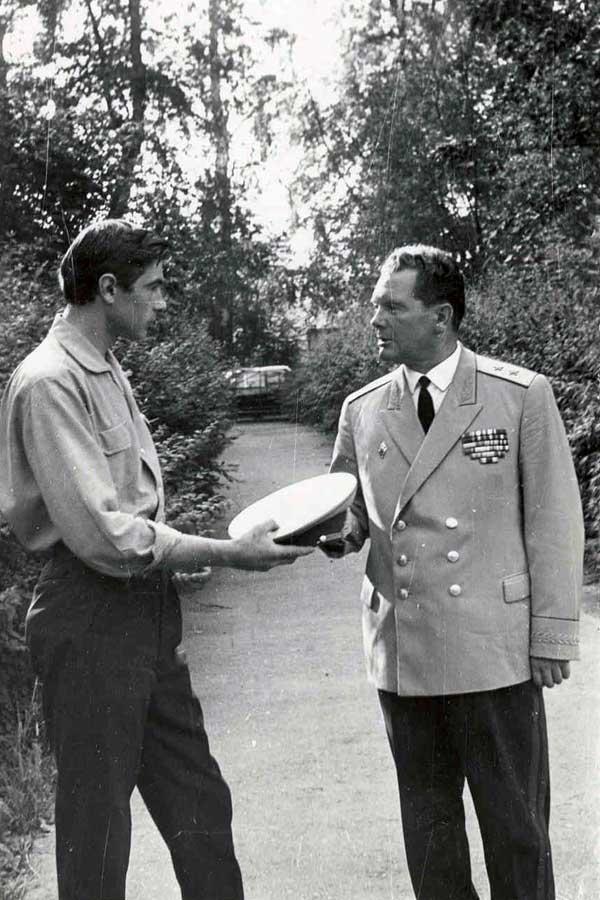Генерал-лейтенант А.И. Грибков с сыном